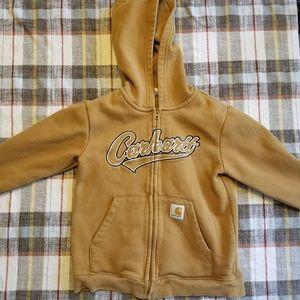 Boys carhartt zip hoodie